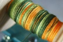 Making and using yarn / Dyeing and spinning fleece/yarn  / by Jenny Sutherland