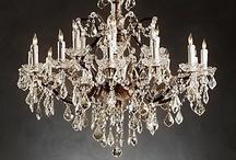 chandeliers/lights/candles / by Bridget Scoggins