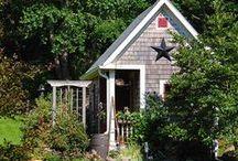 garden sheds / by Charlotte Guyomard