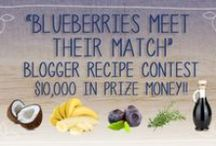 CONTEST: BLUEBERRIES MEET THEIR MATCH / This contest challenges you to experiment with different flavor pairings for blueberries! We want you to start thinking about blueberries in new & unique ways during the winter months with winter fresh and frozen blueberries. Our goal is to encourage blueberry lovers to think outside the box, beyond lemon and other common pairings to create inventive recipes just in time for the holidays. / by Blueberries