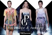 """Prabal Gurung Spring 2015 / TRESemmé created """"active ponytails"""" to complement Prabal Gurung's spring/summer 2015 line inspired by the juxtaposition between traditional Nepalese dress and American boyish sportswear. / by TRESemmé"""