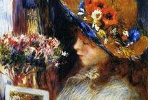 ~Pierre-Auguste Renoir~ / Pierre-Auguste Renoir (1841-1919) was a French artist who was a leading painter in the development of the Impresionist styles. In his art he showed a celebrationn of beauty and especially feminine sensuality. / by Sharon Phillips