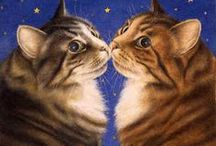 ~Kitty Art~ / Okay, it has dawned on me. After looking at my boards, I realize I am even more obcessed with cats than I had already known!!!  / by Sharon Phillips