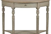 Demilune tables / by Linda Cutler