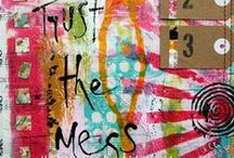 ART PRINTING GELLI ARTS TUTS & IDEAS / by Claudia Jean Nelson