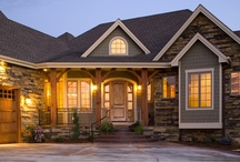 Craftsman Home Plans / Often loved for their natural sensibility and rustic simplicity, Craftsman house plans offer beautiful exteriors with simple ornamentation and style. These Craftsman homes are loaded with curb appeal and offer a wonderful living experience wherever they are built. Get inspired to build your dream Craftsman home with these beautiful photos and ideas. / by House Plans and More
