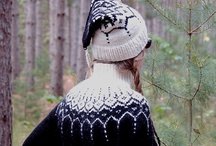hand knitted / I started knitting several years ago out of necessity. We have long cold winters here in the North Woods and we milk twice a day all year long. Wool hats, gloves, sweaters  and even long johns  are a must! I now find the knitting to be the necessity. / by inkspot