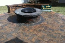 Hanover, PA Fire Pit & Paver Patio Installation / Just finished, this beautiful hardscaping project features Nicolock Pavers, Retaining Walls, a Fire Pit, Steps, & a Brick Ring around the fire pit... Ryan's Landscaping is the Hanover area's premiere hardscaping specialist. http://ryanslandscaping.com/  / by RYAN'S LANDSCAPING