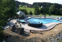 POOLSCAPES HANOVER PA AREA / A wide variety of poolscapes that we installed all over York & Adams Counties.  / by RYAN'S LANDSCAPING