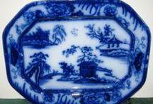 blue willow ,blue flow,blue delf, dutch blue  / blue dishes, blue kitchen, blue wares / by Becky Martinez