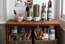 craft storage / by Katie Bickley