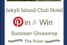 "Pin to Win Summer Giveaway / Starting May 17th you can enter our Pin to Win Summer Giveaway by creating a Travel board ""Jekyll Island Club Hotel Pin to Win Summer Giveaway"" and pin 5 images from jekyllclub.com with hashtag #jekyllclubsummer for a chance to win a Jekyll Island Club Hotel Getaway. / by Jekyll Island Club Hotel"