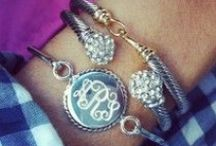Swell Stacks / We love our swell bracelets both solo or grouped as a stack! Check out our fun combinations or create your own!  / by Swell Caroline Jewelry + Monograms