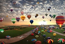 Hot Air Balloons ❣ / Up, up, and away! / by Stephanie Torsell ღ