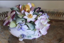 Figural Flower Frogs and Flower Figurines / Beautiful porcelain flowers and lady flower frogs / by Charlynn Greene