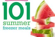 101 Summer Freezer Meals / Freezer meals perfect for the summer months. A ton of grilling, slow cooker and easy to throw together recipes. / by Once A Month Meals