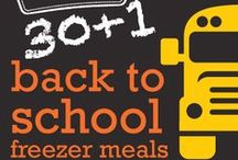 31 Back to School Freezer Meals January 2014 Menu / A swap ready menu full of Back to School Favorites perfect for the lunchboxes at your house!  / by Once A Month Meals