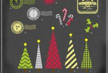 Christmas Vector Graphics / Trendy Christmas vectors in AI, EPS, SVG, and GSD formats / by My Vinyl Designer