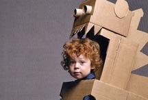 Cardboard Creations / Crafts and activities for kids using cardboard! / by Rebecca Dunn