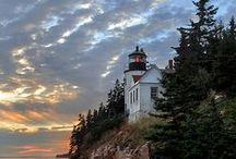 Lighthouses / We are told to let our light shine, and if it does, we won't need to tell anybody it does. Lighthouses don't fire cannons to call attention to their shining-they just shine.  - Dwight L. Moody / by Cathy Kent