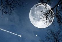 MOON and STARS / Look Up and you shall feel small... / by ~ Lesa ~
