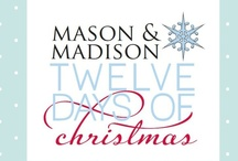 12 Days of Christmas Giveaway 2012! / LIKE, SHARE...WIN!  Check out our facebook page for your chance to win.  12 Days of Christmas Giveaway. exclusively at facebook.com/masonandmadison / by Mason & Madison...gifts with style
