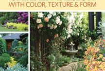 Refresh Your Garden Design / Garden transformations don't always require an expensive overhaul by a team of professionals. Sometimes all it takes is a fresh perspective and a new way to look at your garden.   In my latest book, Refresh Your Garden Design with Color, Texture and Form, I've combined inspirational photographs with real-life situations to help you identify what has gone wrong with your garden and (more importantly) how to fix the problem.    / by Rebecca Sweet | Harmony in the Garden