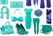 Zyla - Dramatic - Mint to turquoise; periwinkle to violet. / by Sue Giannotta