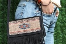 Fringed Handbags / Minnetonka Fringe Suede Hand Bags And 