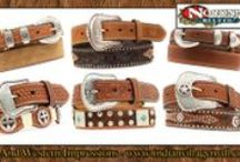 Men's Hand Tooled Belts / Tribal And Western Impressions Hand Tooled Men's Leather Belt Collections! Tribal & Western Impressions