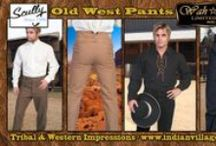 Old West Pants Collection / Authentic Men's Old West Pants Collection From Tribal And Western Impressions Scully And Wahmaker Western Pants. Canvas Pants, Stripe Pants And Old West Dress Pants -Review the collection off of: http://www.indianvillagemall.com/wshirts/oldwestpants.html / by Tribal Impressions