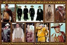 Old West Outfits / Authentic Old West Outfits From Head To Toe From Tribal And Western Impressions From Head To Toe - We Have The Authentic Old West Outfits! Hats, Head Gear- Shirts- Vests- Pants - Boots- Spurs- Scarves - Guns- Gun Belts- Rifles- Ties- Coats- Headbands- Headdresses- Moccasins! -Review off of: http://www.indianvillagemall.com/oldwestoutfits.html / by Tribal Impressions