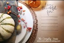 Holidays: Thanksgiving table / by Christina {The Frugal Homemaker}