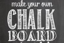 Chalkboard ideas / by Christina {The Frugal Homemaker}