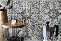 Duquesa by Walker Zanger / Find your inner Duchess in our new collection of elegant decorative tiles. Individually painted by hand, Duquesa is inspired by the beautiful decorative textiles, wood inlay, mosaics, tiles and metalwork that adorned royal palaces in Spain, Portugal, Morocco, Italy and Persia. / by Walker Zanger
