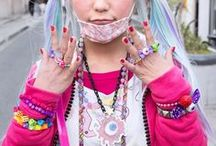 """Harajuku / Tokyo street fashion or """"Fruits."""" Some of the most dramatic and innovative styles I've ever seen! I want to visit Tokyo just to see these people. / by Rachel Suntop"""