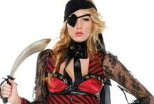 """Sexy Pirate Costumes / Yo, ho, ho and a bottle 'o rum! Give a whole new meaning to """"pirate's booty"""" this Halloween in one of these sexy pirate costumes. / by Lovers Lane"""