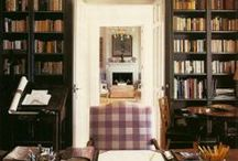 LIBRARY :: BOOKCASES :: LIGHTING /   / by Joanne Dallas