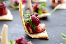 Food / For parties, Tiny bites, Canapés, Appetizers / Food for parties, Tiny bites, Canapés, Appetizers / by Lani Cantor Vatland