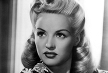 """Betty Grable / Elizabeth Ruth """"Betty"""" Grable (December 18, 1916 – July 2, 1973) was an American actress, dancer, and singer. Grable was celebrated for having the most beautiful legs in Hollywood and studio publicity widely dispersed photos featuring them. / by Kristin Leedy Kessler"""