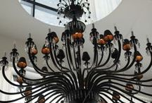 Chandeliers,  Lights and Lampshades! / Chandeliers lights lampshade creations / by Jenny Collins