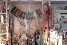 Creative spaces / I am always searching for good storage ideas for my craft supplies, with so many creative hobbies i have a lot of wool,paint,wood,buttons,ribbons,paper,beads,clay etc. and not so much space. / by Maria G