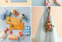 Wedding Ideas / Romantic, eggshell blue, melon, gold, culture, elegance, Mexican, honey, spicy, mariachi, live band,  / by Alexandria Reyes