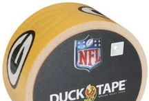 "NFL Licensed Duck Tape / America's favorite fix-all is now available with officially licensed NFL team logos.  From standard repairs and fixes to fan engagement and pre-game tailgates, the uses are endless. Win or lose, it's a great way for die-hard fans to show they ""stick"" with their team! Excellent for tailgating, repairs and fun. High performance strength and adhesion characteristics. Tears easily by hand without curling and conforms to uneven surfaces. / by Duck Brand"