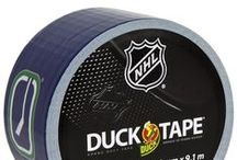 "NHL® Licensed Duck Tape / Duck Tape® featuring NHL team logos is the ultimate hockey ""stick""!  From standard repairs and fixes to fan engagement and game-time fun, the uses are endless.  Win or lose, it's a great way for die-hard fans to show they ""stick"" with their team! Excellent for crafts, repairs and team spirit.  / by Duck Brand"