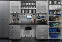 """Garages / Make room for the car and """"transFORM"""" the garage into the work room of your dreams. A custom-designed workbench will make frequently used tools easy to find and projects easy to complete. When we're done you can organize yard tools and home maintenance supplies inside the durable cabinetry we build to your requirements. You will protect and preserve the contents of your garage when you allow our talented designers and installers to create the storage you need. / by transFORM"""