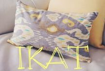 We Love Ikat! / Traditional and contemporary Ikat throw pillows and other decor and fashion items featuring this lovely pattern / by Pillow Decor