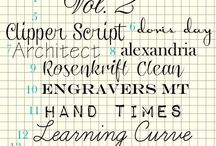 Fonts / by Karen Lutz Gleaves