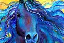 Animal Art / Blue horse is my favorite, but love all animal art. / by Marcea S