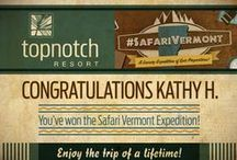 2013 Safari Vermont. (sweepstakes) / Win a luxury expedition of epic proportions! The elements of the Grand Prize are featured in the Pins below. Full contest details available at www.SafariVermont.com  / by Topnotch Resort